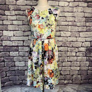 Tahari Fit & Flare Sleeveless Dress Size 2
